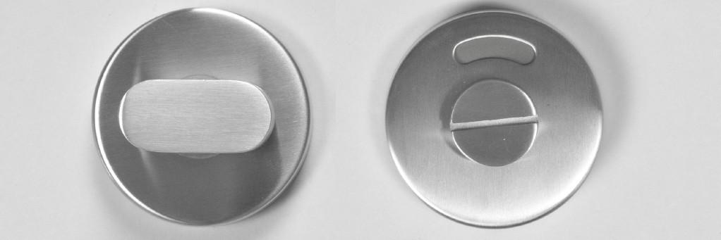 Toiletgarnituur RVS design type 231 rond p/stel.