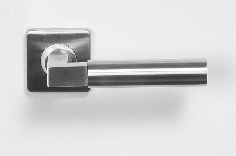 Krukstel massief RVS design type 195 quadro p/stel.